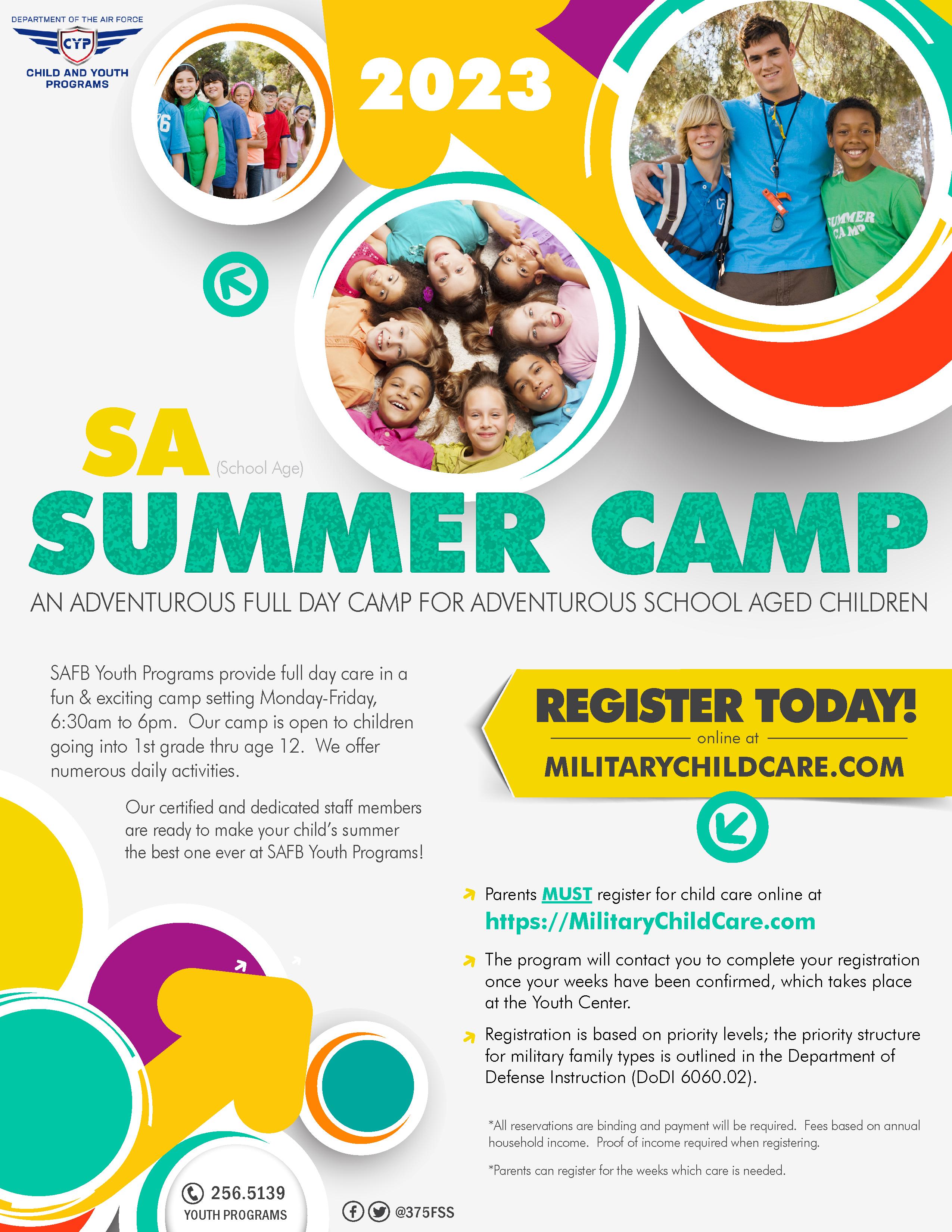 2021 School Age Summer Camp Registration